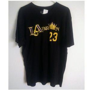 Men's Black LA Lakers LeBron 23 Graphic Shirt